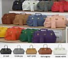 "JOY Mangano Genuine Leather Designer Duffle Bag 19-1/2""L x 10""W x 13"" H"