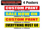 Custom Sale posters and signs for shops and retail package slatwall you choose