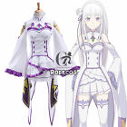 Re Zero Start Life In Another World Emilia EMT Cosplay Costume With Stockings