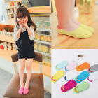 4 8 Pairs Baby Girl Kid Cotton Ankle Invisible Nonslip No Show Socks Low 1-10Y