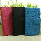 1x Lovely Graffiti Printed Wallet Stander flip case cover for LG Cell Phone
