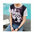 Summer Men's t-Shirt Short Sleeve High Quality Cotton Printed Fashion Shirt HF