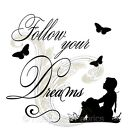 Follow Your Dreams Silhouette Quilt Block Multi Sizes FrEE ShiPPinG WoRld WiDE