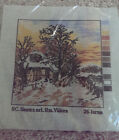 New european needlepoint kits: canvas and embroidery thread
