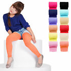 KIDS FASHION Girls Soft Microfibre FOOTLESS Tights 40 Denier Colours Years 4-13