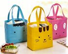 Pink Yellow Bunny Cat Gesture Portable Insulated Picnic Handbag Bag nr0213360155