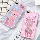 New Cartoon cute Cat Deer Polka dots Quicksand case cover for iphone 7 6 6S plus