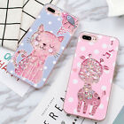 Cartoon cute Cat Deer Polka dots Quicksand case cover for iphone 8 X 7 6 6S plus