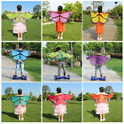 Children Color Butterfly Belly Fairy Angel Wing Cloak Dance Cape Costume Clothes