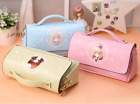 Cartoon Girls Pencil Pen Case Box Cosmetic Pouch Brush Holder Makeup Bag