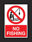 No Fishing Signs Keep of The Grass Lake Closed A4, A5 Signs 2mm Rigid Foamboard