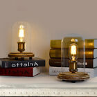 Industrial Edison Bulb Glass Cloche Desk Light Table Lamp Night Lighting Home