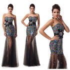 Sequins Shiny Formal Cocktail Ball Gown Club Wear Evening Party Prom Maxi Dress