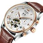 KINYUED Automatic Business Tourbillon Date Waterproof Hollow Leather Watches