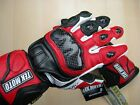 Carbon Fiber Motorcycle Gloves Leather Gauntlet half price of Icon REV'IT