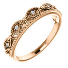Genuine .04 ctw Diamond Stackable Crown Design Ring 14K Yellow, White, Rose Gold