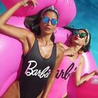 Pink Black Barbie swimsuit 6, 8,10,12 new
