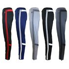 Mens Track Pants Moisture Wicking Stripe Jogger Active Training Cross Fit