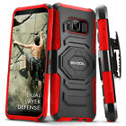 Galaxy S8 Active Case (G892), Evocel Rugged Holster Dual Layer Case w/ Kickstand