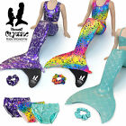 MERMAID TAILS by UraMermaid 5pc Swimsuit Set With The Olympic Flexible MONOFIN