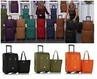 """JOY Leather 21"""" Conduct on Luggage & Tote Ensemble Revolutionary Spinball Wheels"""