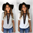 New Summer Women Fashion Short Sleeve T Shirt Casual Blouse Loose Cotton Tops.