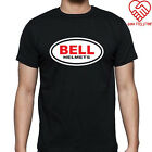 New Bell Helmets Logo Men's Black T-Shirt Size S to 3XL