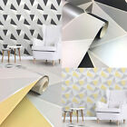 Fine Decor Apex Geometric Metallic Wallpaper Abstract Triangle 10m 2 Colours