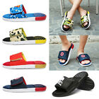 Summer Men's Causal Sandals Slipper Flat Slip On Shoes for Beach Indoor Outdoor