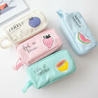 Cute Student Canvas Pencil Pen Case Box Makeup Pouch Brush Holder Bag