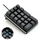 New 21 Keys Magicforce Wired Blue Backlit Usb Mechanical Numeric Keypad Keyboard