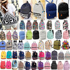 Travel - Men Women Vintage Canvas Backpack Rucksack School Satchel Travel Hiking Book Bag