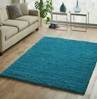 LARGE & EXTRA LARGE THICK TEAL BLUE SHAGGY RUG (SIMILAR TO DARK DUCK EGG)