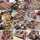 SMALL LARGE VIBRANT FUNKY MULTI COLOURED GEOMETRIC SOFT PILE MODERN SPECTRUM RUG