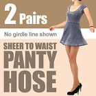 -2 pairs- (Free shipping) Sheer to waist pantyhose / no girdle line shown