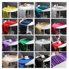 5pcs Satin Table Runner Chair Sash For Wedding Party Banquet Home Table Decor