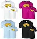 Whole Pizza Slide Mens T Shirt Daddy Son Daughter Mummy Mom Funny Slice T-Shirt