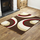 CHOCOLATE RED MODERN WAVE RUG MAT X LARGE SMALL RUNNER RUG QUALITY CHEAP COST