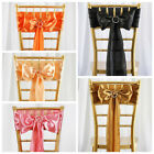 10 New SATIN Chair Sash BOWS Ties Wedding Bridal Party Supplies Decorations SALE