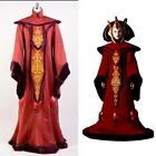 Star Wars Phantom Menace Padme Amidala Suit Cosplay Gown Costume Red Queen Dress $151.8 AUD