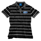 Ford Striped Polo T Shirt Mens Embroidered logo on chest Fathers Day Bar Gift