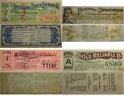FOUR (4) VERY COLORFUL LOTTERY TICKETS, 1881 Louisiana, 1894 Kentucy and 1913