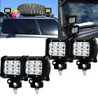 4Pcs 36w Spot LED Work light marine boat deck docking rv camper motorhome Black