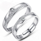 His and Hers Rings 925 Silver Couple Rings Adjustable Open Ring set Nickel Free