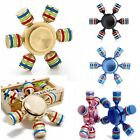 EDC Focus ADHD Autism Stress Relief 6 Arm Fidget Hand Spinner Finger Brass Toy