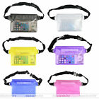 Universal Outdoor Waterproof Dry Pouch Waist Strap Bags for Beach/Fishing/Drift