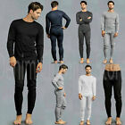 Men's 2 pcs Thermal Underwear Set Long Sleeve Johns Waffle Knit Top Bottom S~3XL