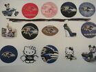 Baltimore Ravens mix flat back buttons or pin badges cabochons embellishmagnets $5.5 USD on eBay