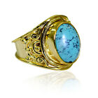 prettyish Turquoise Copper Turquoise Ring suppiler L-1in US 5,6,7,8