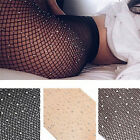 Women Crystal Rhinestone Fishnet Net Mesh Socks Stockings Tights Pantyhose HF